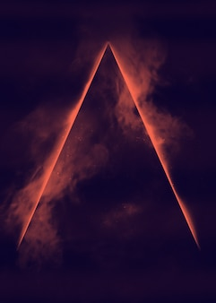 Mgławica kosmiczna z promieniami laserowymi