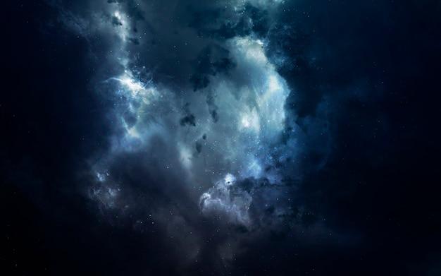 Mgławica. obraz z kosmosu, fantasy science fiction w wysokiej rozdzielczości, idealny do tapet i druku. elementy tego zdjęcia dostarczone przez nasa