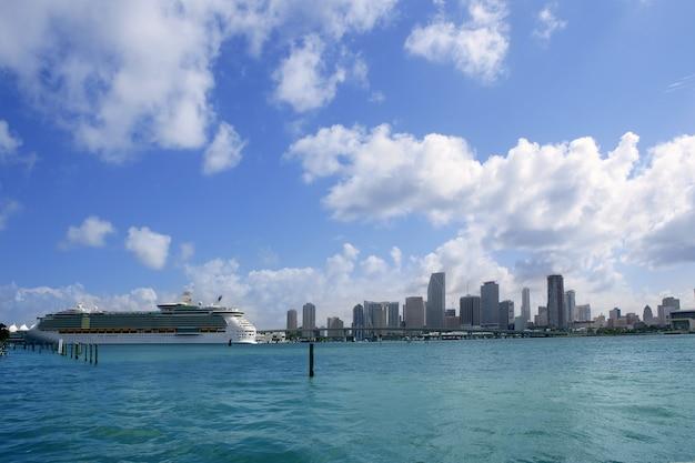 Miami beach widok z centrum miasta