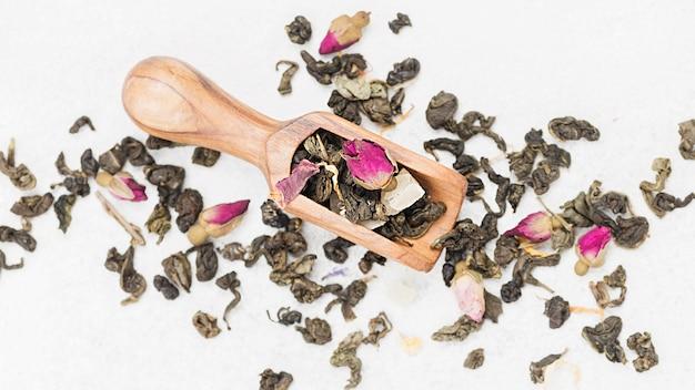 Miarka z ziołami na herbatę