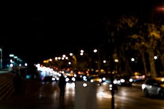 Miasta światła bokeh zamazany tło