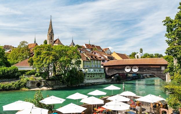 Miasto baden w aargau w szwajcarii