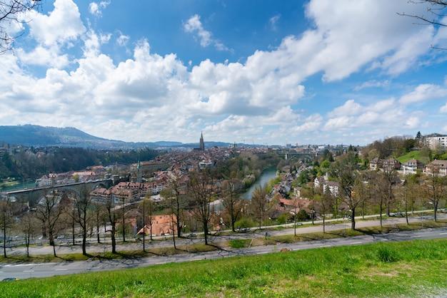 Miasto berno szwajcaria z widoku z góry