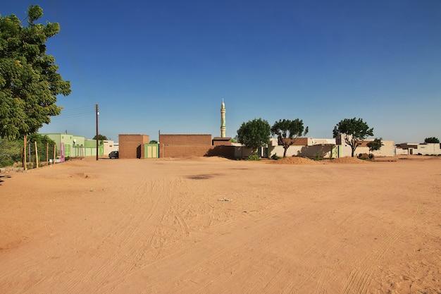 Miasto karma w sudanie, afryka
