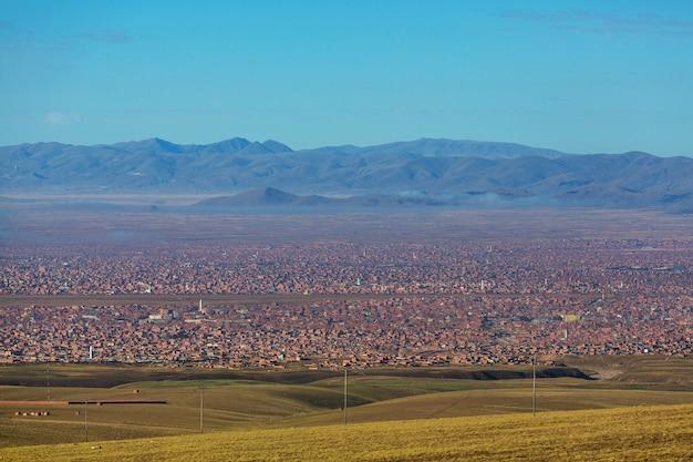 Miasto la paz w boliwii w ameryce południowej