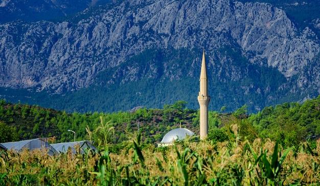 Miasto meczet w mieście kirish, kemer, turcja