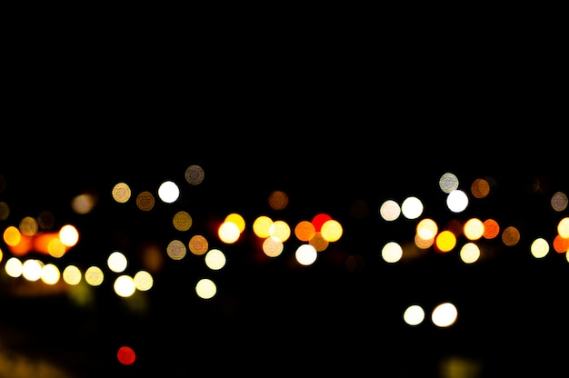 Miasto noc bokeh