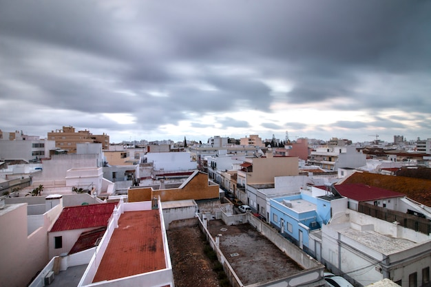 Miasto olhao w regionie algarve