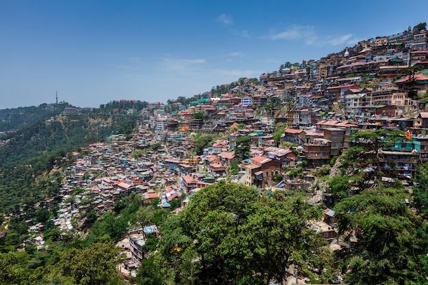 Miasto shimla, himachal pradesh, indie