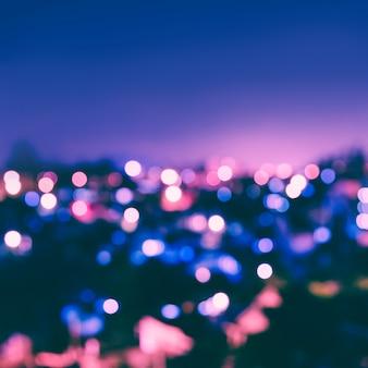 Miasto światła bokeh