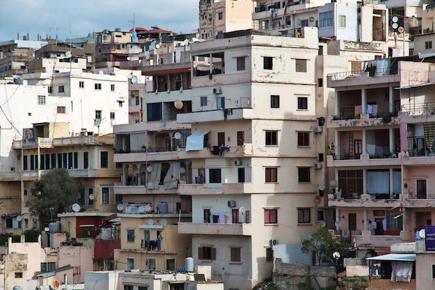 Miasto trypolis w libanie na bliskim wschodzie