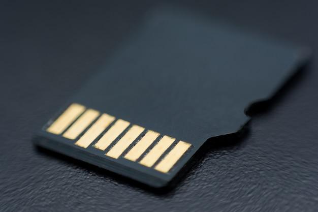 Micro sd karty z bliska