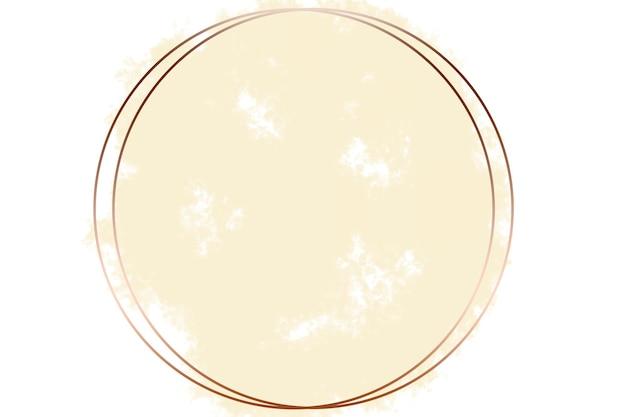 Miedziana okrągła abstrakcyjna ilustracja tła logo z pastelowym żółtym tłem
