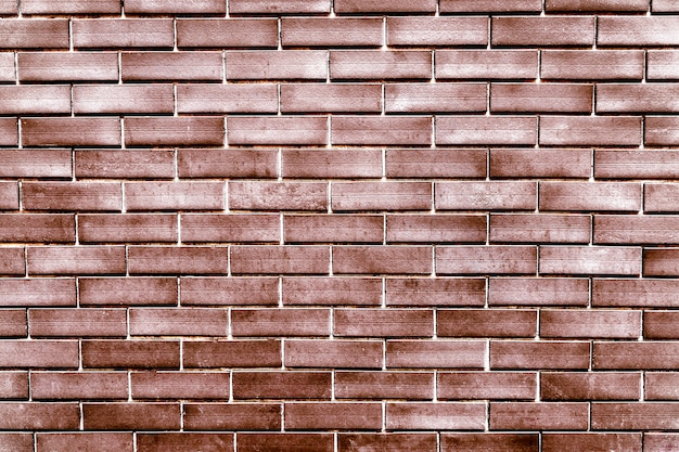 Miedziany rocznika ściana z cegieł