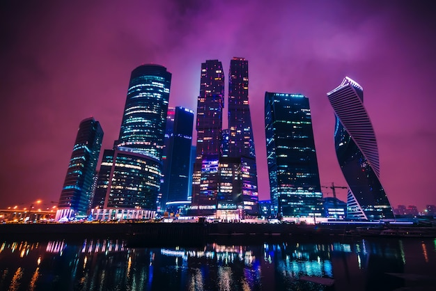 Międzynarodowe centrum biznesowe w moskwie. rosja