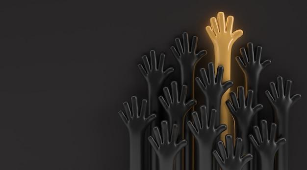 Międzynarodowy dzień młodzieży, 12 sierpnia, projekt ilustracji 3d render.