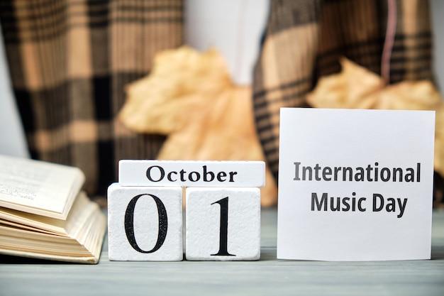 Międzynarodowy dzień muzyki jesiennego miesiąca kalendarzowego października.