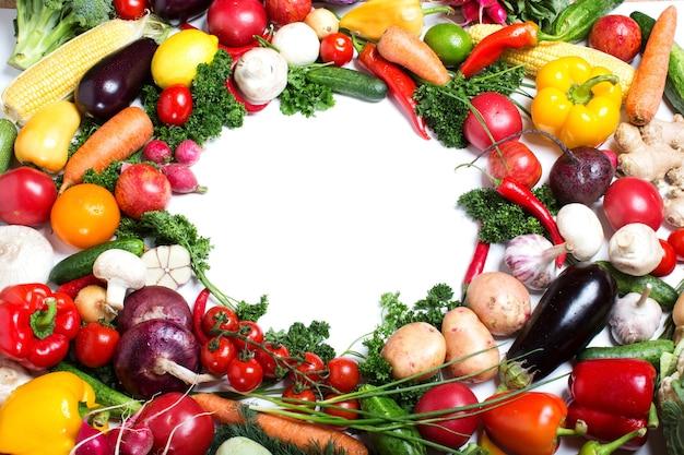 Miejsce na kopię tła warzyw. dieta surowej żywności.