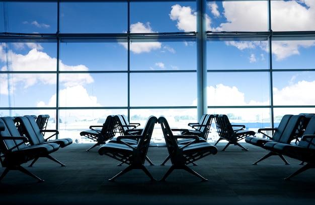 Miejsce przy koncepcji oczekiwania na lotnisku