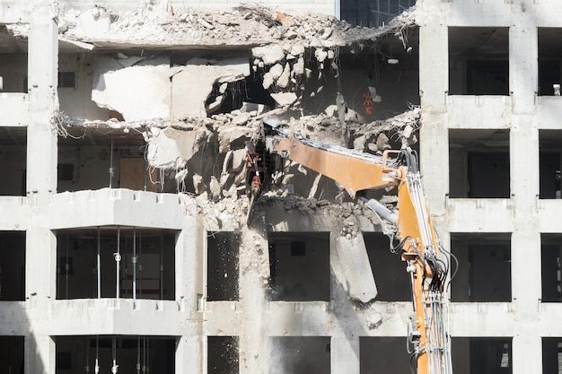 Miejsce rozbiórki budynku