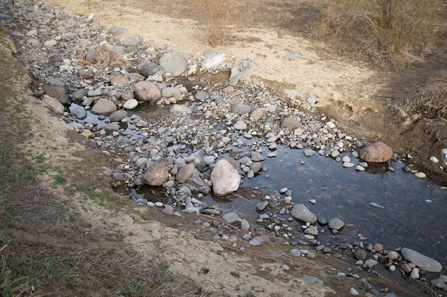 Miejsce, W Którym Kończy Się Rzeka Premium Zdjęcia