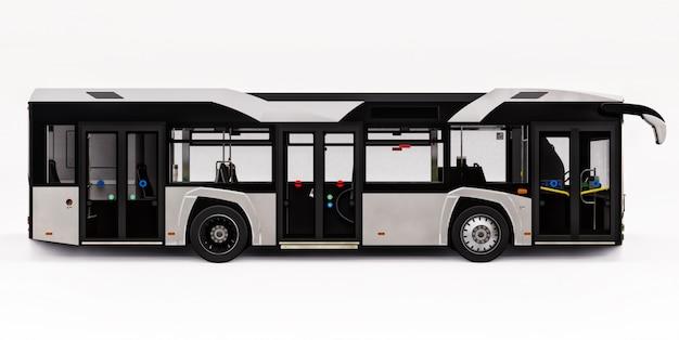 Miejski biały autobus mediun