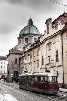 Miejskie widoki pragi w europie