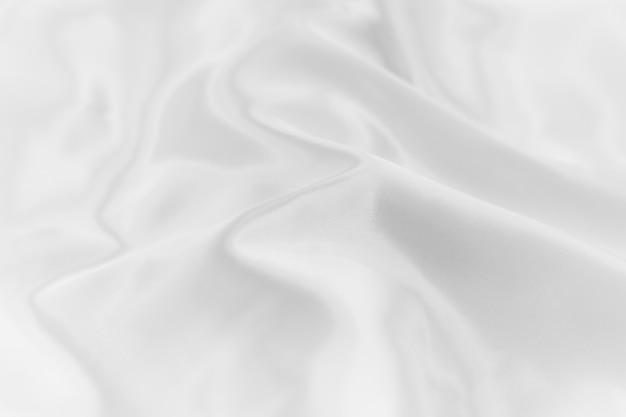 Miękka ostrość białej koloru jedwabnicza fabricl tła tekstura.