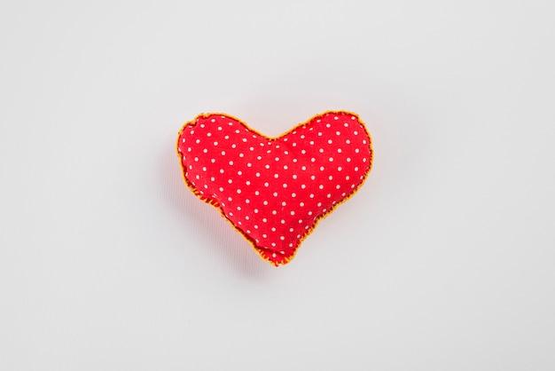 Miękki czerwony symbol serca