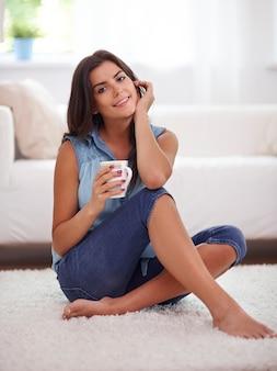 Miękki dywan to idealne miejsce na relaks