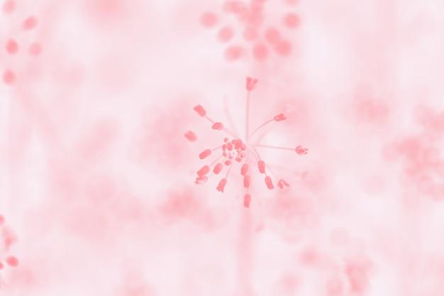 Miękkie, jasnoróżowe pastelowe tło z kwiatowym wzorem