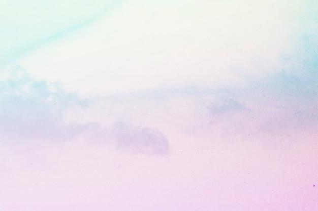 Miękkie zachmurzenie jest gradient pastelowych, abstrakcyjne tło nieba
