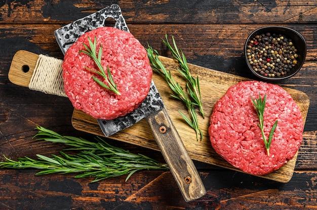 Mielone paszteciki z surowego mięsa