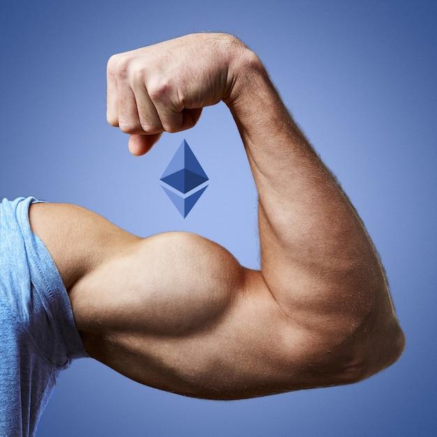 Mięśnie ramion i logotyp