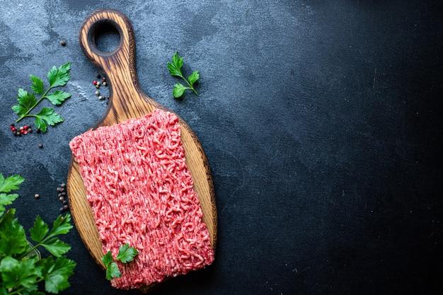 Mięso mielone mięso wieprzowe lub wołowe, kurczak lub indyk do gotowania świeżych składników