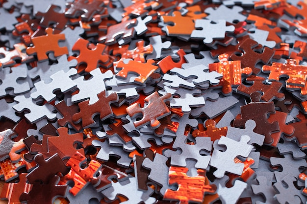 Mieszane puzzle układanki w tle .
