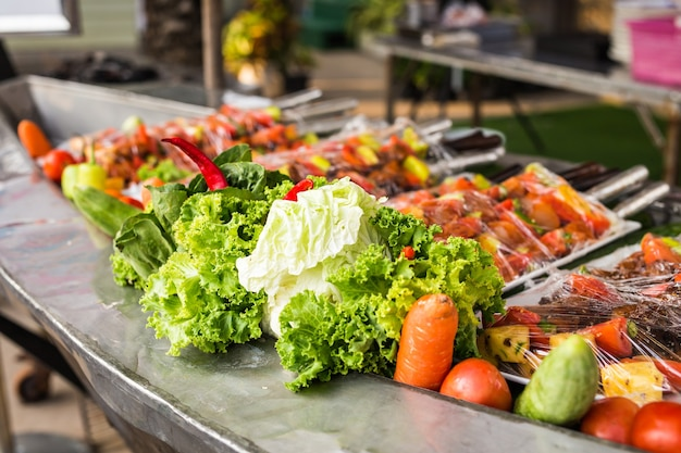 Mieszane świeże warzywa