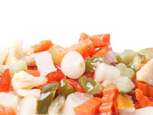 Mieszane tło warzyw