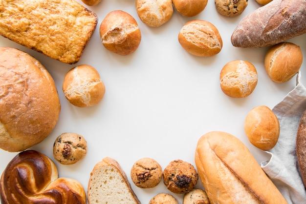 Mieszanka chleba z widokiem z góry