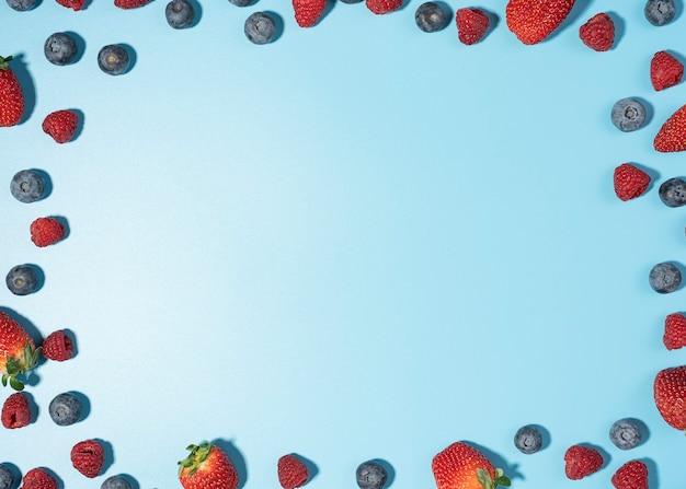 Mieszanka tła jagody z miejsca na kopię