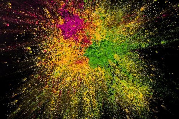 Mieszany abstrakcjonistyczny holi proszka tło