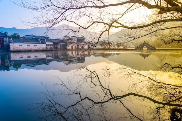 Mieszkalnych chińskich sceny orientalnej pokojowej kultury
