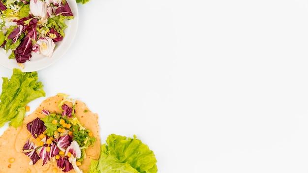 Mieszkanie świecki meksykański skład żywności z copyspace