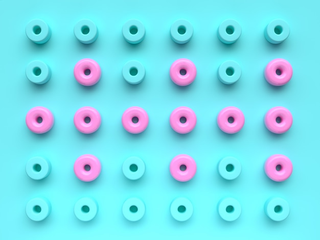 Mieszkanie świeckich scena tło grupa niebieski różowy wzór geometryczny kształt ustawić minimalne streszczenie renderowania 3d