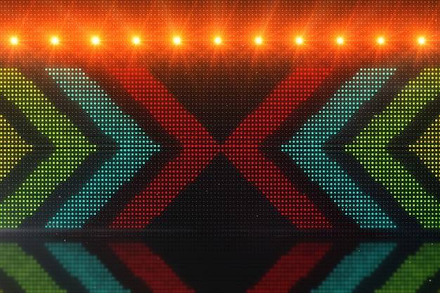 Migotanie światła tła ze strzałkami. streszczenie tło cyfrowe. technologia renderowania 3d.