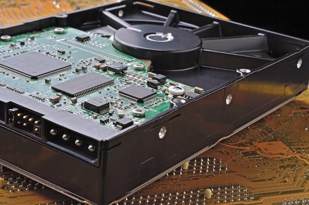 Mikrochipy na płytce drukowanej