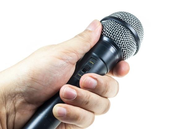 Mikrofon na białym tle.