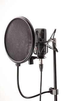 Mikrofon w stacji nadawczej