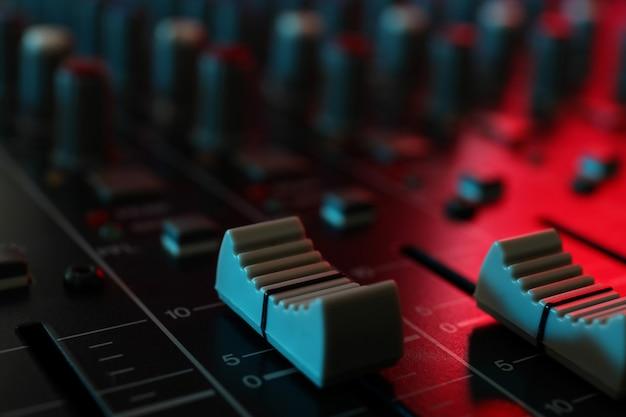 Mikser dźwięku, zbliżenie i selektywne ustawianie ostrości
