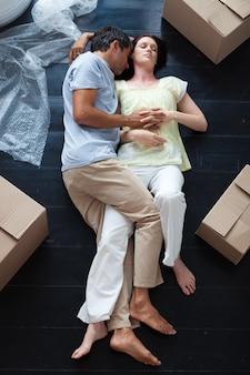 Miłośnicy spania na podłodze